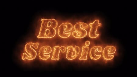 poll : Best Service Word Hot Animated Burning Realistic Fire Flame and Smoke Seamlessly loop Animation on Isolated Black Background. Fire Word, Fire Text, Flame word, Flame Text, Burning Word, Burning Text.