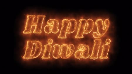 firecracker : Happy Diwali Word Hot Animated Burning Realistic Fire Flame and Smoke Seamlessly loop Animation on Isolated Black Background. Fire Word, Fire Text, Flame word, Flame Text, Burning Word, Burning Text.