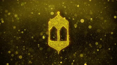 Аллах : Islamic, islam, religious, Monument, Monuments Icon Golden Glitter Glowing Lights Shine Particles. Object, Shape, Web, Design, Element symbol 4K Loop Animation
