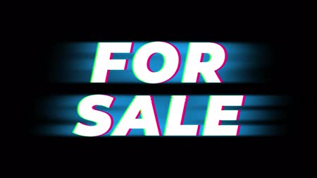 cupom : For Sale Text Glitch Effect Promotion Advertisement Loop Background. Price Tag, Sale, Discounts, Deals, Special Offers, Green Screen and Alpha Matte