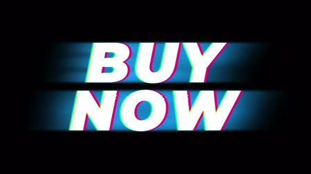 add to cart : Buy Now Text Glitch Effect Promotion Advertisement Loop Background. Price Tag, Sale, Discounts, Deals, Special Offers, Green Screen and Alpha Matte Stock Footage