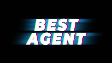 idade média : Best Agent Text Glitch Effect Promotion Advertisement Loop Background. Price Tag, Sale, Discounts, Deals, Special Offers, Green Screen and Alpha Matte