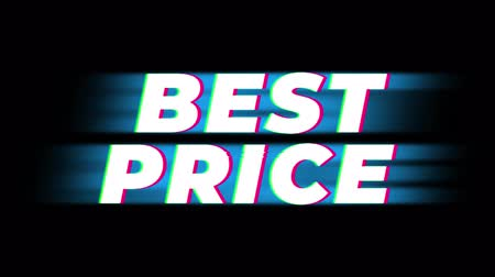 cupom : Best Price Text Glitch Effect Promotion Advertisement Loop Background. Price Tag, Sale, Discounts, Deals, Special Offers, Green Screen and Alpha Matte