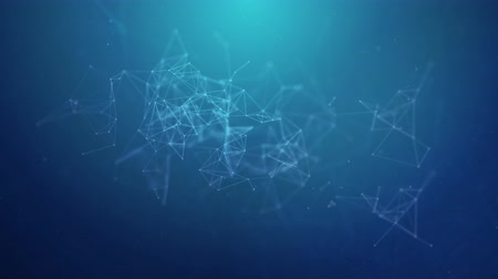 átomo : Abstract Plexus Geometrical Shapes. Connection And Web Concept. Digital Communication And Technology Network Moving Lines And Dots. Seamless Loop 4K Animation Background
