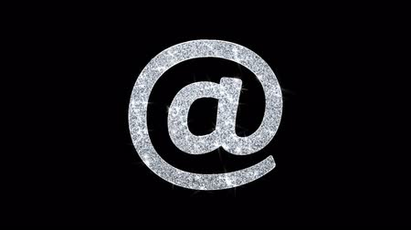 e mail address : E mail, Email, Email, Inbox, Mail, Message Icon Sparkling Shining White Blinking Particles Diamond Glitter Loop Light 4K Animation Alpha Channel.
