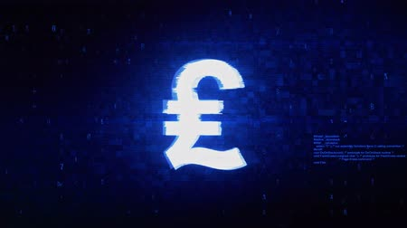 finanças : Italy Lira Currency Symbol Abstract Digital Pixel Noise Glitch Error Video Damage Signal Loop 4K Animation.