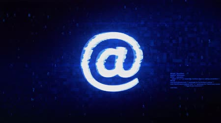 уведомление : E mail, Email, Email, Inbox, Mail, Message Symbol Abstract Digital Pixel Noise Glitch Error Video Damage Signal Loop 4K Animation.
