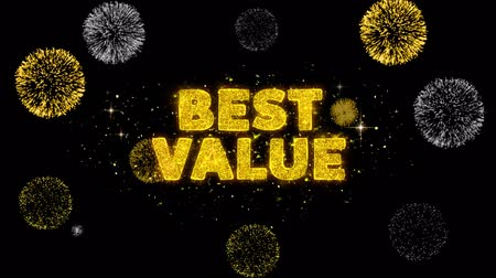 product promo : Best Value Text Reveal on Glitter Golden Particles Firework. Sale, Discount Price, Off Deals, Offer promotion offer percent discount ads 4K Loop Animation.