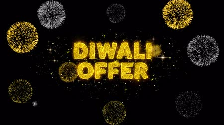 редактируемые : Diwali Offer Text Reveal on Glitter Golden Particles Firework. Sale, Discount Price, Off Deals, Offer promotion offer percent discount ads 4K Loop Animation. Стоковые видеозаписи