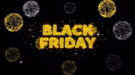 plakát : Black Friday Text Reveal on Glitter Golden Particles Firework. Sale, Discount Price, Off Deals, Offer promotion offer percent discount ads 4K Loop Animation. Dostupné videozáznamy
