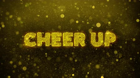 plakát : Cheer Up Text Golden Glitter Glowing Lights Shine Particles. Sale, Discount Price, Off Deals, Offer promotion offer percent discount ads 4K Loop Animation.