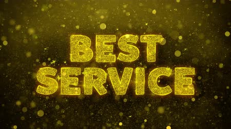 alku : Best Service Text Golden Glitter Glowing Lights Shine Particles. Sale, Discount Price, Off Deals, Offer promotion offer percent discount ads 4K Loop Animation.