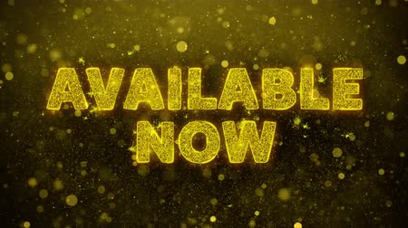 jelenleg : Available Now Text Golden Glitter Glowing Lights Shine Particles. Sale, Discount Price, Off Deals, Offer promotion offer percent discount ads 4K Loop Animation.