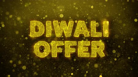 cinquantenne : Diwali Offer Text Golden Glitter Glowing Lights Shine Particles. Sale, Discount Price, Off Deals, Offer promotion offer percent discount ads 4K Loop Animation.