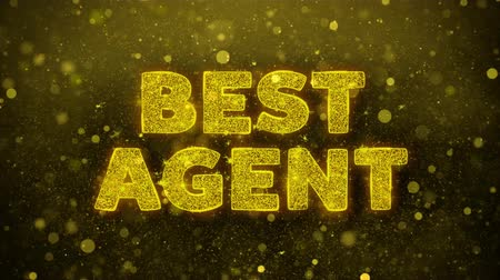 триггер : Best Agent Text Golden Glitter Glowing Lights Shine Particles. Sale, Discount Price, Off Deals, Offer promotion offer percent discount ads 4K Loop Animation.