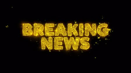 latest : Breaking News! Text Sparks Glitter Particles on Black Background. Sale, Discount Price, Off Deals, Offer promotion offer percent discount ads 4K Loop Animation.