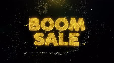 comics pop : Boom Sale Text on Gold Glitter Particles Spark Exploding Fireworks Display. Sale, Discount Price, Off Deals, Offer Promotion Offer Percent Discount ads 4K Loop Animation.