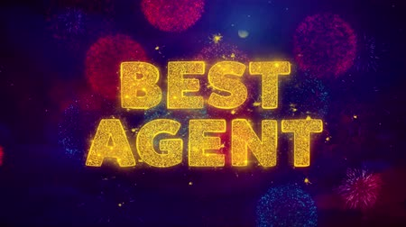 имущество : Best Agent Text on Colorful Firework Explosion Particles. Sale, Discount Price, Off Deals, Offer promotion offer percent discount ads 4K Loop Animation. Стоковые видеозаписи