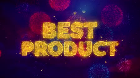 promocional : Best Product Text on Colorful Firework Explosion Particles. Sale, Discount Price, Off Deals, Offer promotion offer percent discount ads 4K Loop Animation.