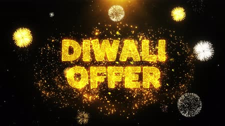 cupom : Diwali Offer Text on Firework Display Explosion Particles. Sale, Discount Price, Off Deals, Offer promotion offer percent discount ads 4K Loop Animation.