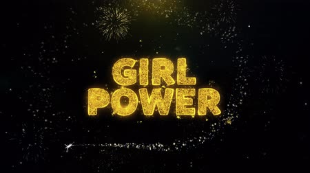 comics pop : Girl Power Text on Gold Glitter Particles Spark Exploding Fireworks Display. Sale, Discount Price, Off Deals, Offer Promotion Offer Percent Discount ads 4K Loop Animation.