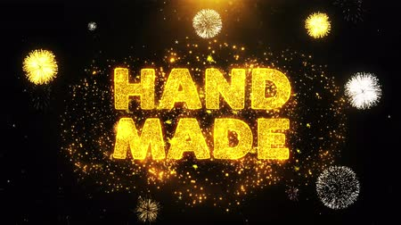 promo : Hand Made Text on Firework Display Explosion Particles. Sale, Discount Price, Off Deals, Offer promotion offer percent discount ads 4K Loop Animation.