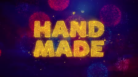 クリアランス : Hand Made Text on Colorful Firework Explosion Particles. Sale, Discount Price, Off Deals, Offer promotion offer percent discount ads 4K Loop Animation. 動画素材