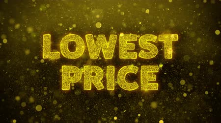 クリアランス : Lowest Price Text Golden Glitter Glowing Lights Shine Particles. Sale, Discount Price, Off Deals, Offer promotion offer percent discount ads 4K Loop Animation.