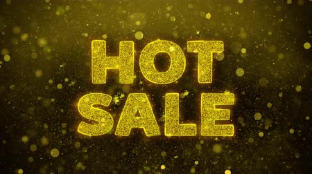 végső : Hot Sale Text Golden Glitter Glowing Lights Shine Particles. Sale, Discount Price, Off Deals, Offer promotion offer percent discount ads 4K Loop Animation.