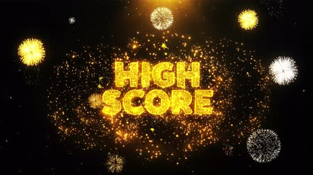 コミットメント : High Score Text on Firework Display Explosion Particles. Sale, Discount Price, Off Deals, Offer promotion offer percent discount ads 4K Loop Animation.