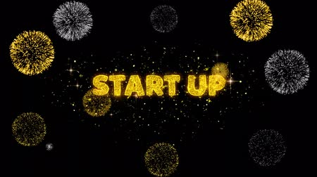 por cento : Start Up Text Reveal on Glitter Golden Particles Firework. Sale, Discount Price, Off Deals, Offer promotion offer percent discount ads 4K Loop Animation.