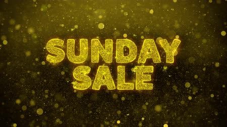 více : Sunday Sale Text Golden Glitter Glowing Lights Shine Particles. Sale, Discount Price, Off Deals, Offer promotion offer percent discount ads 4K Loop Animation.