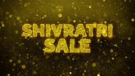 mantra : Shivratri Sale Text Golden Glitter Glowing Lights Shine Particles. Sale, Discount Price, Off Deals, Offer promotion offer percent discount ads 4K Loop Animation.