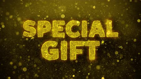 cupom : Special Gift Text Golden Glitter Glowing Lights Shine Particles. Sale, Discount Price, Off Deals, Offer promotion offer percent discount ads 4K Loop Animation. Stock Footage