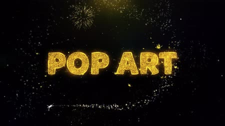 comics pop : Pop Art Text on Gold Glitter Particles Spark Exploding Fireworks Display. Sale, Discount Price, Off Deals, Offer Promotion Offer Percent Discount ads 4K Loop Animation.