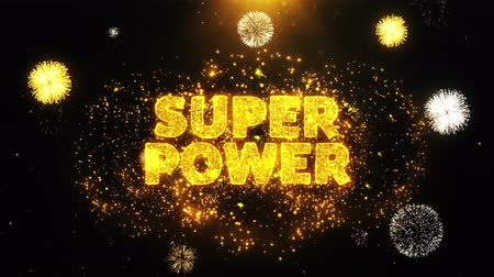 рекламный : Super Power Text on Firework Display Explosion Particles. Sale, Discount Price, Off Deals, Offer promotion offer percent discount ads 4K Loop Animation. Стоковые видеозаписи