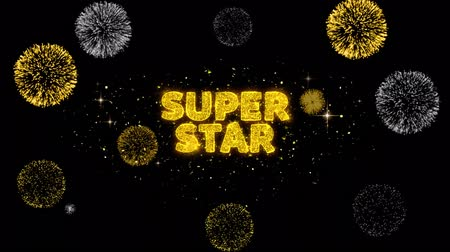 cupom : Super Star Text Reveal on Glitter Golden Particles Firework. Sale, Discount Price, Off Deals, Offer promotion offer percent discount ads 4K Loop Animation.