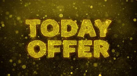 cupom : Today Offer Text Golden Glitter Glowing Lights Shine Particles. Sale, Discount Price, Off Deals, Offer promotion offer percent discount ads 4K Loop Animation.