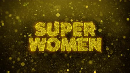 クリアランス : Super Women Text Golden Glitter Glowing Lights Shine Particles. Sale, Discount Price, Off Deals, Offer promotion offer percent discount ads 4K Loop Animation.