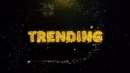 cupom : Trending Text on Gold Glitter Particles Spark Exploding Fireworks Display. Sale, Discount Price, Off Deals, Offer Promotion Offer Percent Discount ads 4K Loop Animation.