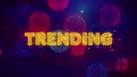クリアランス : Trending Text on Colorful Firework Explosion Particles. Sale, Discount Price, Off Deals, Offer promotion offer percent discount ads 4K Loop Animation.