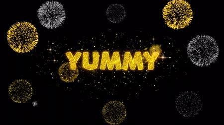 cupom : Yummy Text Reveal on Glitter Golden Particles Firework. Sale, Discount Price, Off Deals, Offer promotion offer percent discount ads 4K Loop Animation. Vídeos