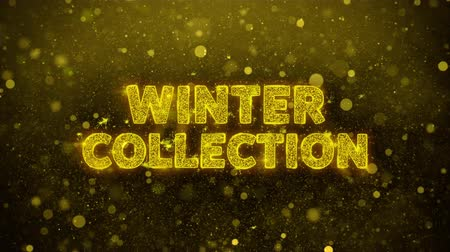 クリアランス : Winter Collection Text Golden Glitter Glowing Lights Shine Particles. Sale, Discount Price, Off Deals, Offer promotion offer percent discount ads 4K Loop Animation. 動画素材
