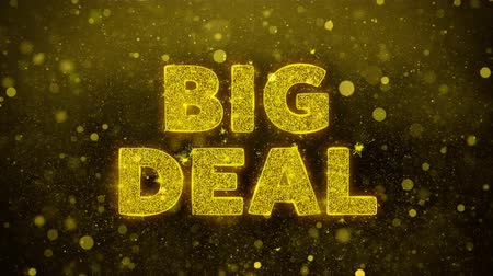 cupom : Big Deal Text Golden Glitter Glowing Lights Shine Particles. Sale, Discount Price, Off Deals, Offer promotion offer percent discount ads 4K Loop Animation. Vídeos