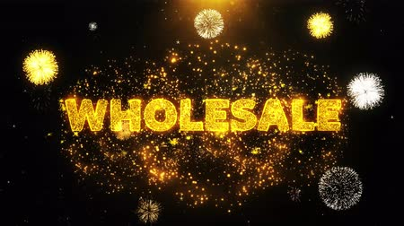 cupom : Wholesale Text on Firework Display Explosion Particles. Sale, Discount Price, Off Deals, Offer promotion offer percent discount ads 4K Loop Animation. Vídeos