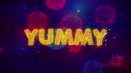 cupom : Yummy Text on Colorful Firework Explosion Particles. Sale, Discount Price, Off Deals, Offer promotion offer percent discount ads 4K Loop Animation.