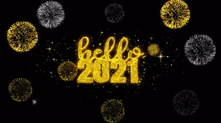 si přeje : Hello 2021 New Year Text Wish Reveal on Glitter Golden Particles Firework. Greeting card, Wishes, Celebration, Party, Invitation, Gift, Event, Message, Holiday, Festival 4K Loop Animation. Dostupné videozáznamy