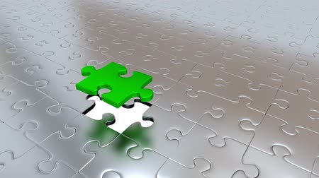 propagação : One Green Puzzle Piece transform all other Silver Puzzle Pieces into Green