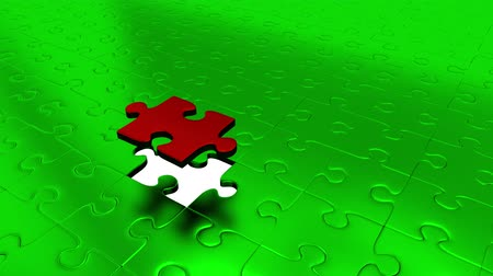 propagação : One Piece Puzzle Red Piece All Green Puzzle Pieces into Red