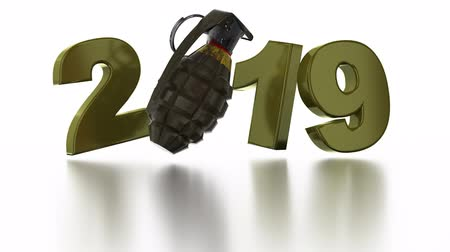 grenade : Military Granada 2019 design in Infinite Rotation with a White Background